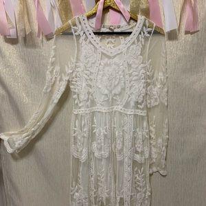 Chelsea & Violet Lace Midi Dress